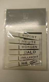 German Pegs Wooden Magnetic