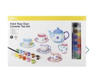 Paint Your Own Ceramic Tea Set