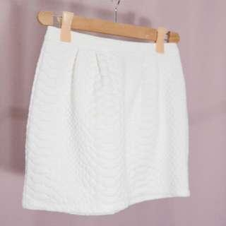 F21 white bandage skirt