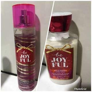 Bath and Body Works Be joyful ( mist and lotion)