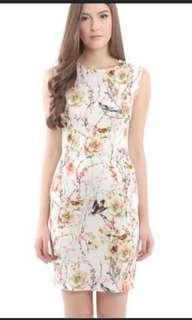 Her Velvet Vase HVV Odette Pastel Shift Dress XS