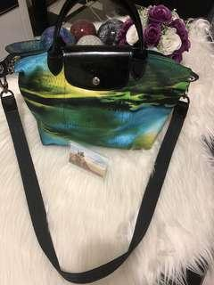 """Longchamp Le Pliage Neo Fantaisie """"ocean"""" handbag"""
