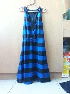 H&M blue stripe dress