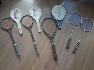 Rackets - seldom use. Good condition. @ $30 each.