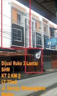 Ruko 3 Lantai Jl. Bhayangkara Medan