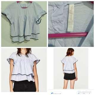 Zara baby doll top med on tag