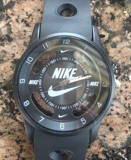 Unisex black large watch