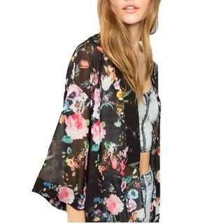 Bohemian floral.kimono