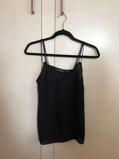 Black basic cami top