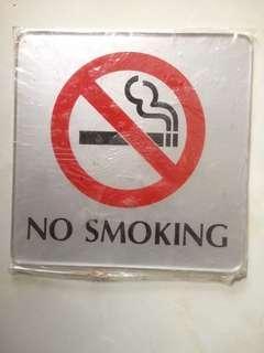 No Smoking Acrylic 15x15cm