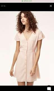 NWT Aritzia Nazaire Dress in Sakura Size 4