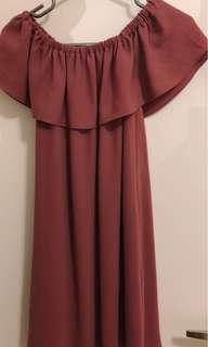 Aritzia offshoulder dress