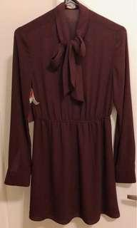 Aritzia Sunday Best Burgundy dress