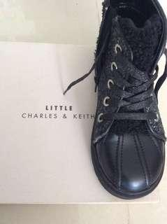 Charles and Keith Black Boots for Girls