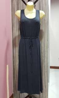Cooling, stretchable, free size rayon spandex grey sleeveless dress suitable for nursing