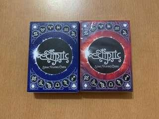 🚚 Ecliptic Zodiac Playing Cards Set of 2