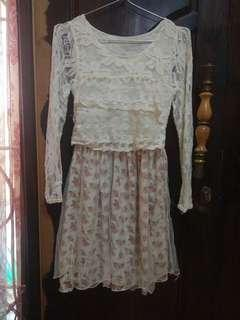 Dress Pesta Brukat Floral