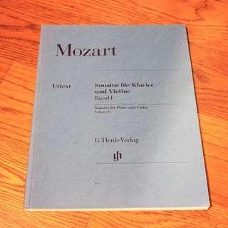 🚚 Mozart Sonatas for Piano and Violin Volume 1