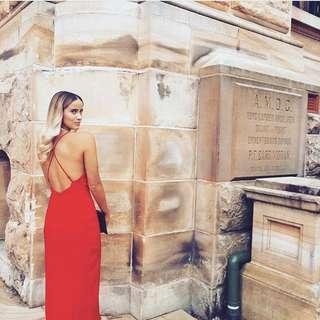 Bardot Red Midi Dress