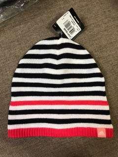 全新Adidas Beanie 間條冷帽