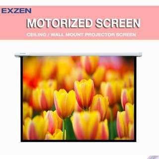[EXZEN] Motorised Projector Screen