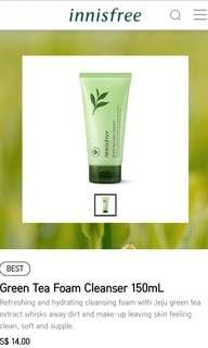 [BNIP] Innisfree Green Tea Cleansing Foam