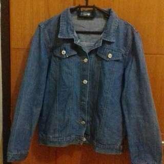 Jaket Jeans Semi Crop Oversized  S/M