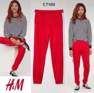 H&M side jogger red