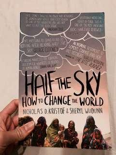 HALF THE SKY - HOW TO CHANGE THE WORLD - NICHOLAS D KRISTOF AND SHERYL WUDUNN