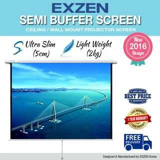 "[EXZEN] 120"" (1:1) Semi Buffer Projector Screen"