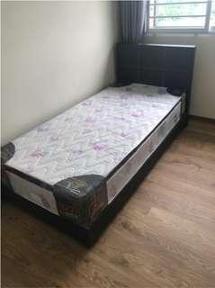 Sale! 10 Inch Single Spring Mattress with Bedframe