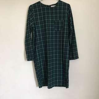 🚚 聖誕綠格紋洋裝