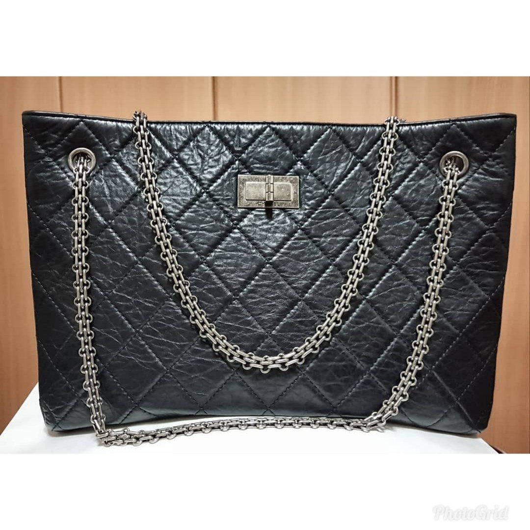 a9bfef526a05 100% AUTH] Chanel Reissue 2.55 Shopper Tote, Luxury, Bags & Wallets ...