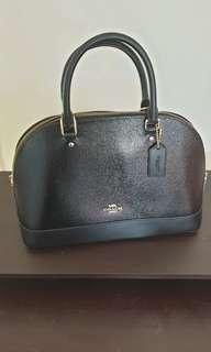 New!!! Coach 31352 Sierra Satchel Crossgrain Patent Leather Hand/Shoulder bag Black
