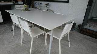 IKEA Dining table & chairs (1-year old)