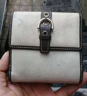 Coach Wallet Ladies Leather Coin Flap AUTHENTIC