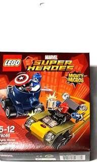 2x Lego Mighty Micros Captain America vs Red Skull  76065 new sealed