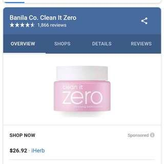 🚚 Banila Co. Clean It Zero Make Up Remover (Pink)