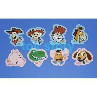 迪士尼 貼紙 Disney sticker / stickers  : 2011 Toy Story Land 反斗奇兵大本營 開幕 貼紙 共 8 張