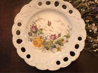 Handpainted Ribbon Pierced Plate