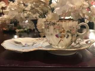 Antique Egg Shell Tea/Snack Set