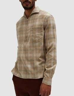 CMMN SWDN lead checked shirt