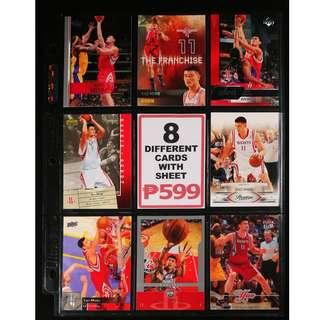 Yao Ming 8 Different Basketball Cards NBA All-Star