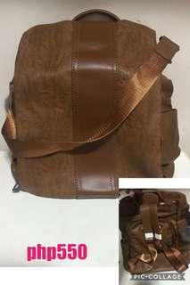brown backbag