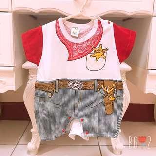🚚 全新❤️臺灣製 嬰幼兒連身裝 70cm 牛仔造型