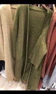 Drex Fable 全新墨綠色毛毛外套,毛超滑,好暖,Free Size。注意:可以先入數之後順豐到付