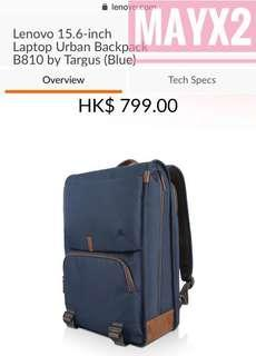 laptop贈品💕平售: $300💕 Lenovo 15.6-inch Laptop Urban Backpack B810 by Targus (Blue) 官網原價$799