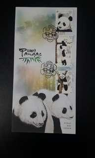 First Day Cover - Giant Pandas (Date of Issue: 6 Sep 2012)