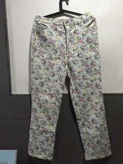 Floral Light Denim Jeans