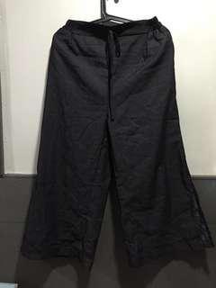 Soft Denim Cropped Culottes